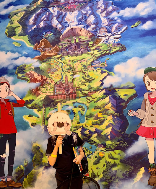 Wall Map & characters for photo op inside Pokemon Centre London