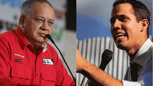 Diosdado amenazó con una bala a Juan Guaidó
