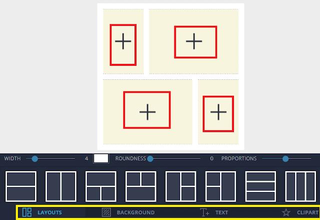 دمج صورتين او اكثر بجانب بعض اون لاين في صورة واحدة