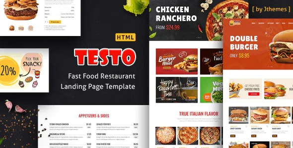 Best Pizza Caffe Restaurant HTML Template