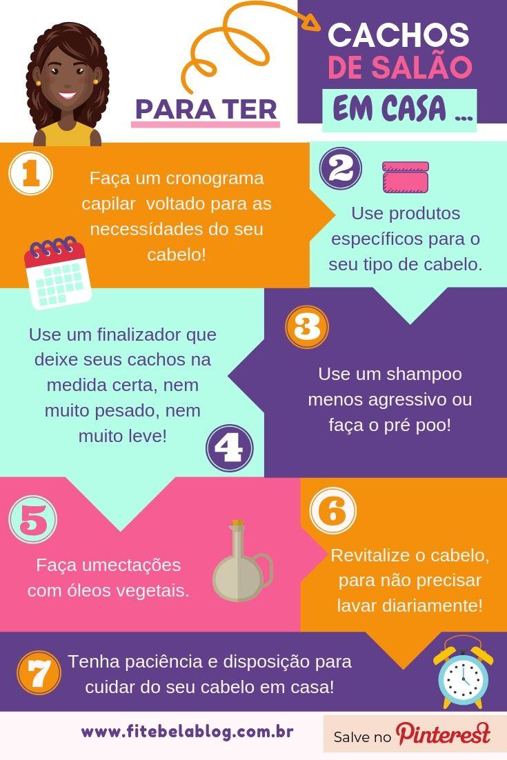CACHOS DE SALÃO EM CASA