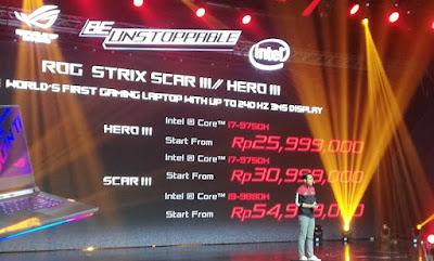 Harga ASUS ROG Strix Scar III/ Hero III