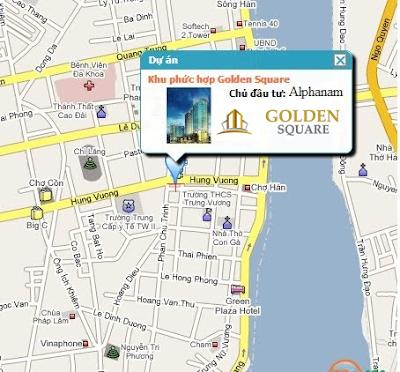 Vị trí dự án Golden Square