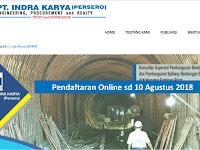 BUMN - PT Indra Karya Persero tutup 10 Agustus 2018