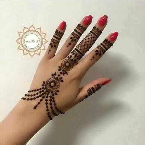 Ornament Mehndi Designs For Hands