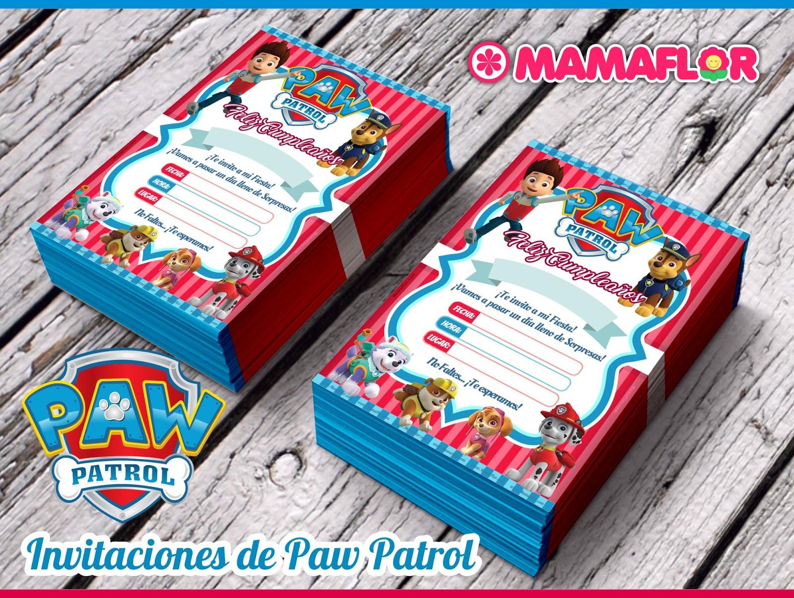 Invitaciones De La Patrulla Canina Para Editar Gratis Manualidades Mamaflor