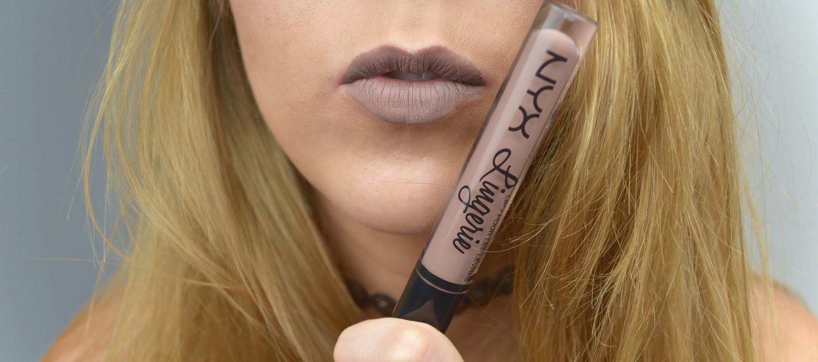 NYX Lip Lingeire, Nude Lip, Nude Lipstick, NYX Lip Lingeire Honeymoon, NYX Lip Lingeire Bedtime Flirt, NYX Lip Lingeire Exotic, NYX Lip Lingeire Embellishment, Makeup
