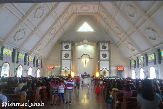 Inside Christ the King Cathedral in Tagum, Davao del Norte