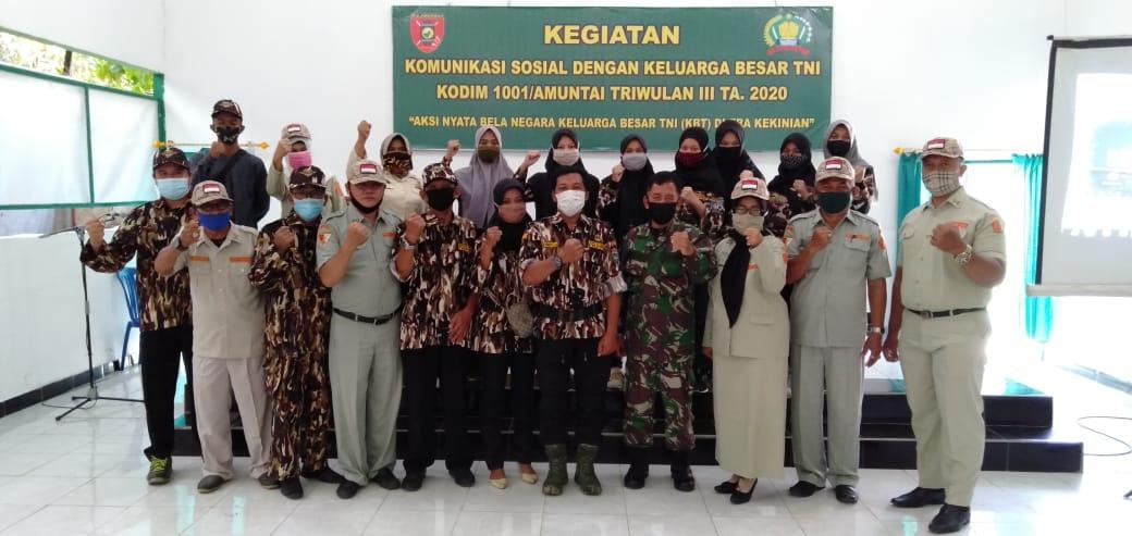 Kodim Amuntai Gelar Komunikasi Sosial Dengan Keluarga Besar TNI