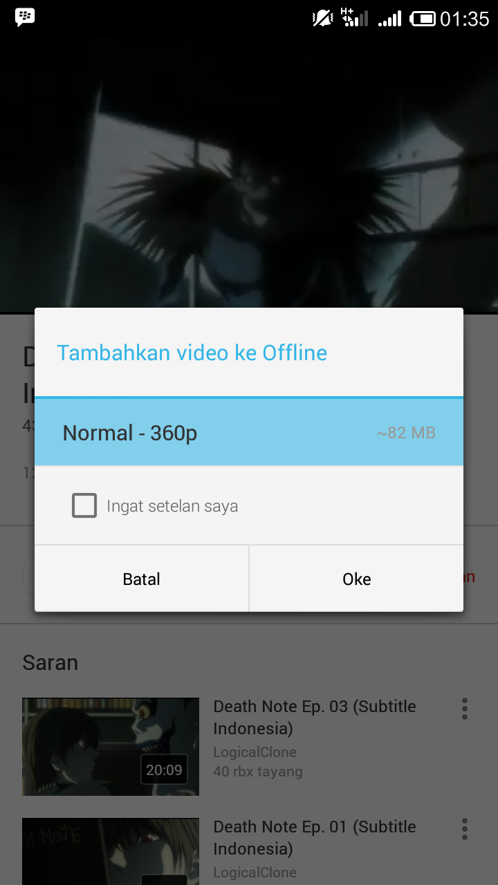 Video yang support fitur offline YouTube
