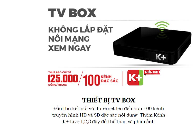 Giá bán BOX K+ tại Quận 1