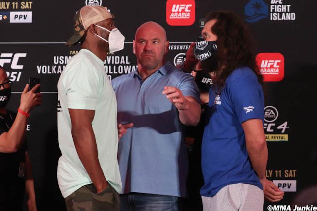 Kamaru Usman Jorge masvidal UFC 251 Face Off