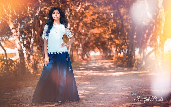 Female Model Standing Elegantly