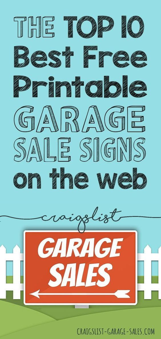 FREE PRINTABLES Garage Sale Signs  Price Tags Craigslist Garage