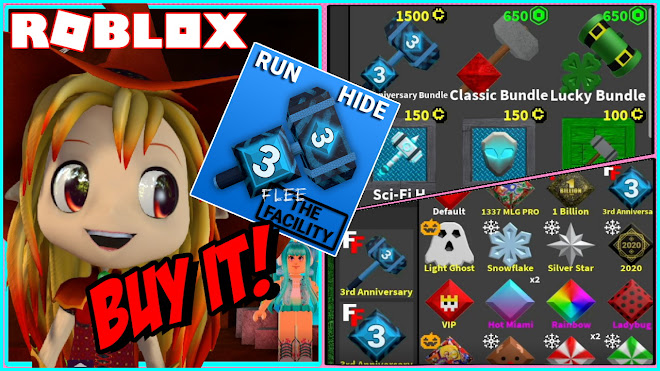 Roblox Flee the Facility! Buying the NEW 3rd Anniversary Bundle and Sci Fi crates!