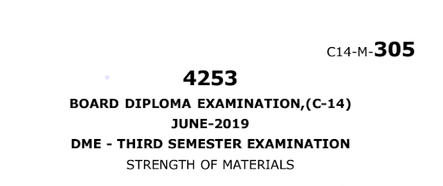 Sbtet diploma strength of materials previous question papers june 2019