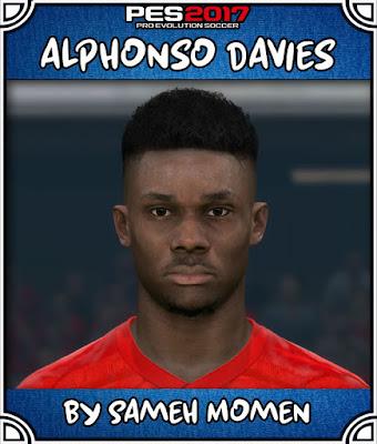 PES 2017 Alphonso Davies Face by Sameh Momen