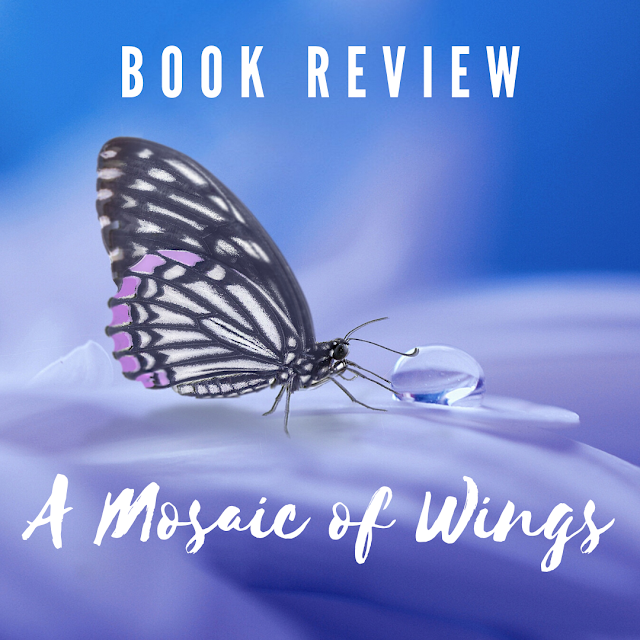 butterfly photo with text: A Mosaic of Wings; Book Review