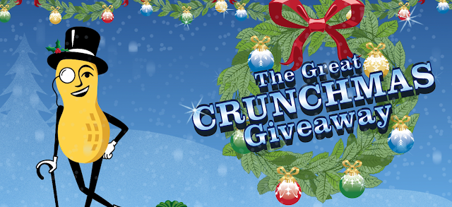Mr. Peanut and Planters is celebrating the Holidays by giving everyone a chance to instantly win gift cards and big cash prizes in The Great Crunchmas Giveaway!