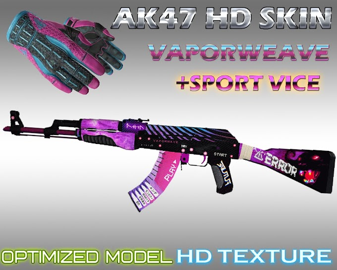 Skin AK 47 - Vapor weave VICE (CS:GO) - HD para CS 1.6