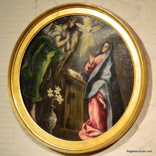 """""""Anunciação"""", de El Greco, no Museu Casa de El Greco em Toledo, Espanha"""