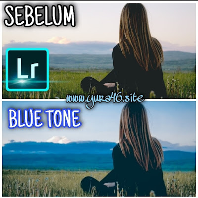rumus lightroom blue tone