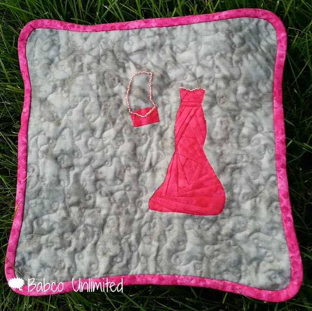 BabcoUnlimited.blogspot.com -- My Little Pink Dress Mini Quilt