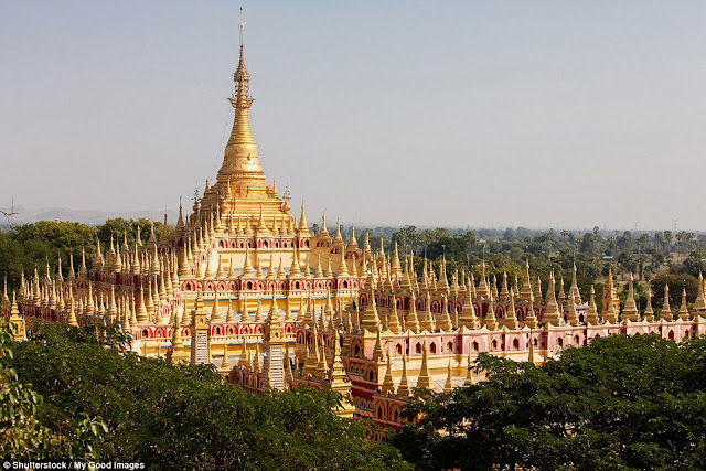 Temple complex Thambuddhei Paya, built in 1303 and containing more than 500 thousand images of Buddha, in Mounyua, Myanmar.