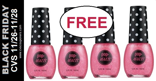 FREE Poparazzi Nail Polish CVS Deal 11-26-11-28