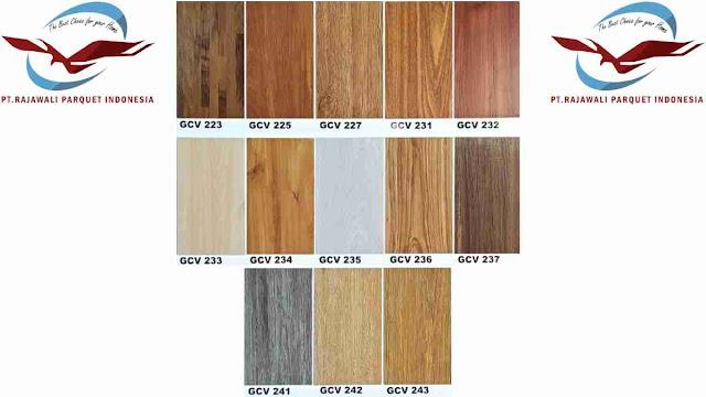 Motif-motif lantai vinyl kayu