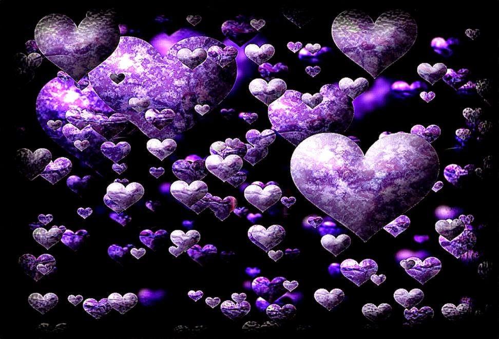 Purple Love Wallpaper: Purple Love Heart Wallpaper