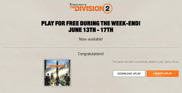 The Division 2 Free Weekend Download Page