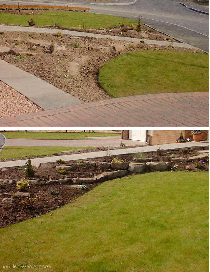 newly planted scree borders
