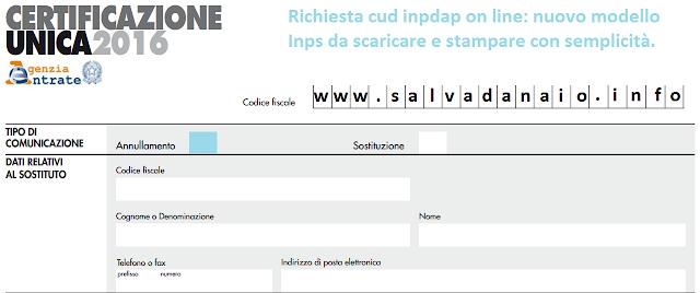 Richiesta cud inpdap on line: scaricare e stampare