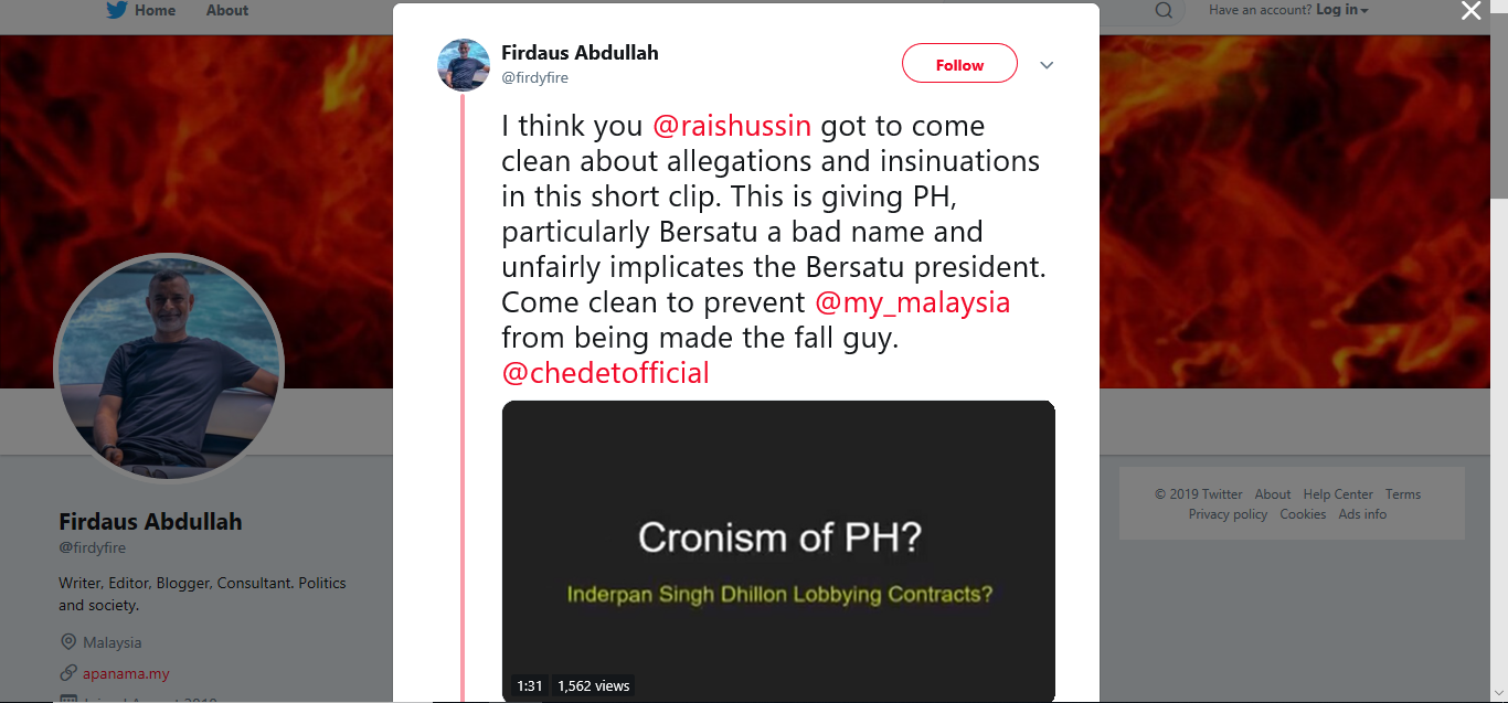 Another Brick in the Wall: Removed as Johor PPBM Chairman