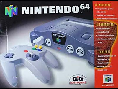 La scatola italiana del Nintendo 64 versione GIG