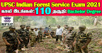 UPSC Recruitment 2021 110 Indian Forest Service Posts