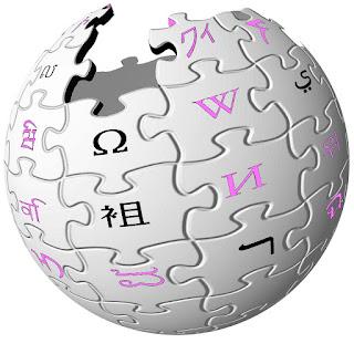 Famoso logotipo de la enciclopedia abierta «en-línea», Wikipedia