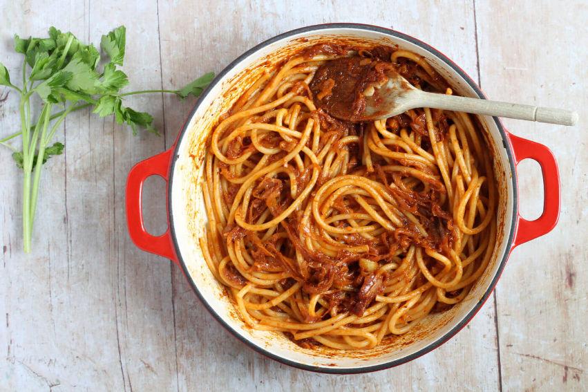 A pan of pasta