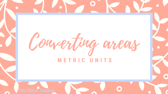 Converting units of area (Metric) online exercise