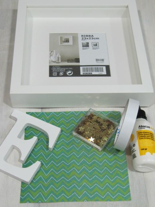 Materiales para hacer un cuadro tridimensional