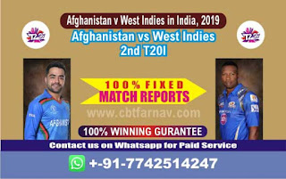 Afghanistan v West Indies in India, 2019 WI vs AFGH 2nd T20 Match Prediction Today Reports