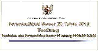 Permendikbud Nomor 20 Tahun 2019 tentang PPDB 2019/2020