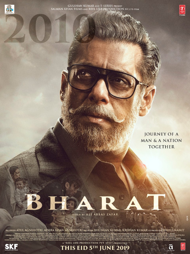 Sallu New Upcoming movie bharat with Ali Abbas Zafar and Atul Agnihotri 2019 bollywood movie poster, actrss, actors