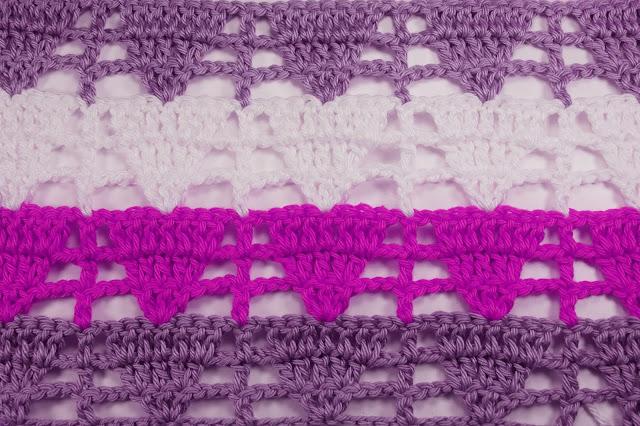 6 - Crochet Imagen Puntada de triangulo calada a crochet y ganchillo por Majovel Crochet