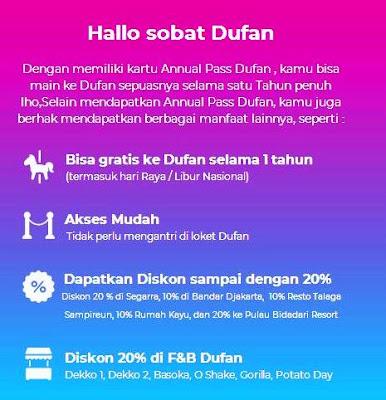Keuntungan memiliki annual pass Dufan