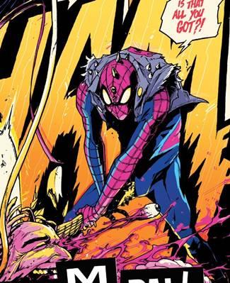Spider-Punk es un Spiderman irascible y alternativo