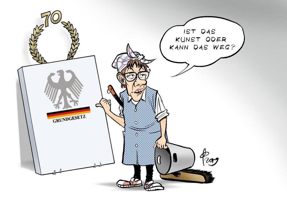 Afbeeldingsresultaat voor AKK krieg frieden cartoon