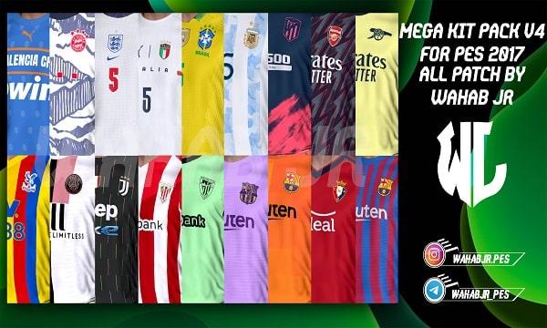 PES 2017 Mega Kit Pack v4 Season 2021-22