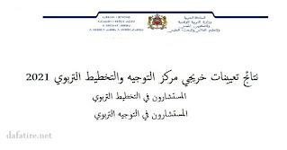تعيينات خريجي مركز التخطيط والتوجيه التربوي لسنة 2021